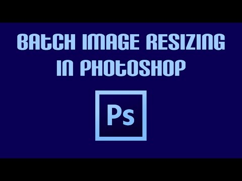 Batch Image Resizing in PhotoShop CC 2016