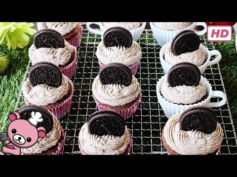 How to make easy - Triple Oreo Cookie Cupcakes - (step-by-step video)