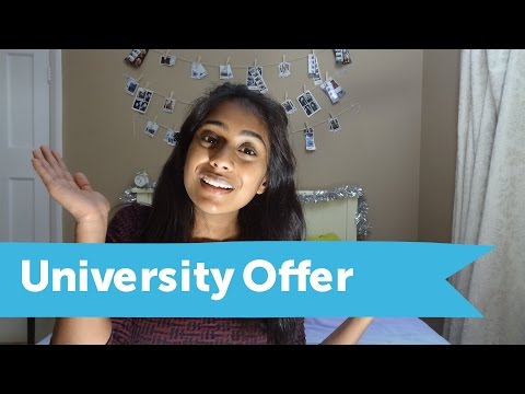 My First University Offer