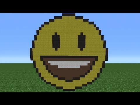 Minecraft Tutorial: How To Make A Grinning Emoji