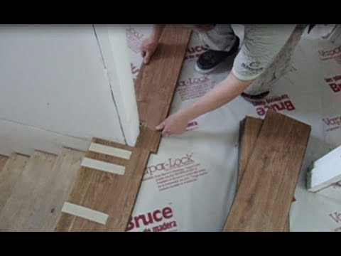Laminate Floor Installation on Concrete: How to Start from the Stairs Nosing Mryoucandoityourself