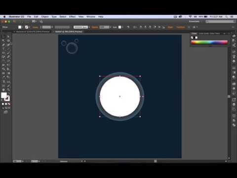 How to Design Bubbles - Adobe Illustrator  (Tutorial)