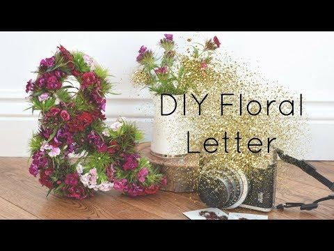 Wedding Decor: DIY Floral Letter