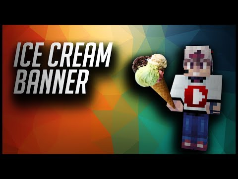 How to Make an Ice Cream Banner in Minecraft!