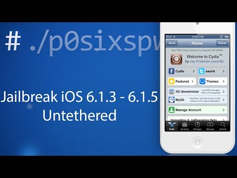 Jailbreak iOS 6.1.3, 6.1.4, 6.1.5 Untethered with P0sixspwn