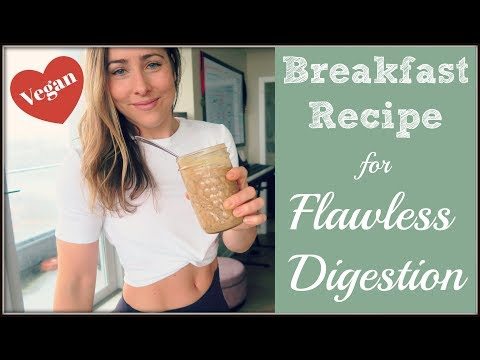My Breakfast for FLAWLESS Digestion | Ginger and Molasses Overnight Oats
