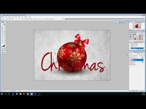 Een kerstkaart maken in Photoshop les14
