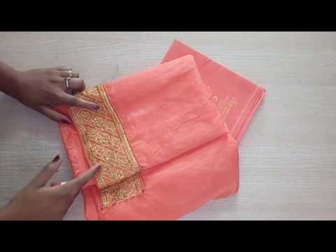 Easy patchwork blouse design cutting & stitching