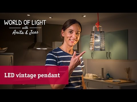 DIY lamp made from an old kitchen grater – the vintage pendant lamp for your kitchen