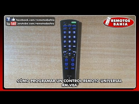 CÓMO PROGRAMAR CONFIGURAR UN CONTROL REMOTO UNIVERSAL RM-V8 RM-V301 SONY HISHI