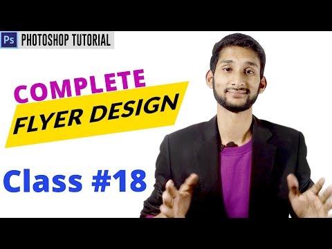 Print Design - Complete Flyer Design Tutorial | Class #18