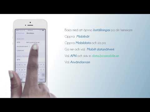 Inställningar för mobilsurf-iPHONE