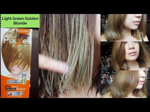 HOW I DYE MY HAIR | Lolane Pixxel in LIGHT GREEN GOLDEN BLONDE - Tagalog