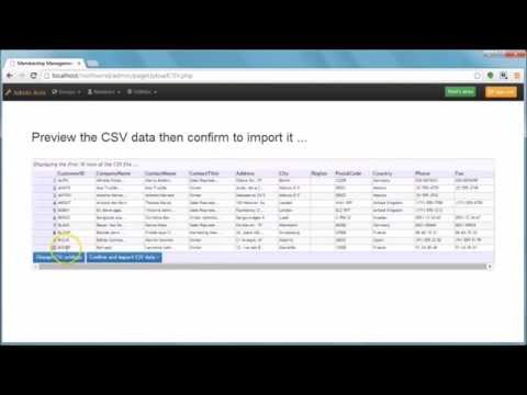 Import data from other applications using CSV format