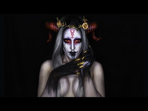Black Magic Demon Halloween Makeup Tutorial