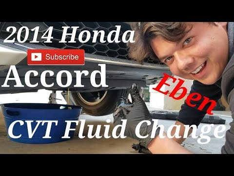 How to change the CVT transmission fluid on 2014 Honda Accord