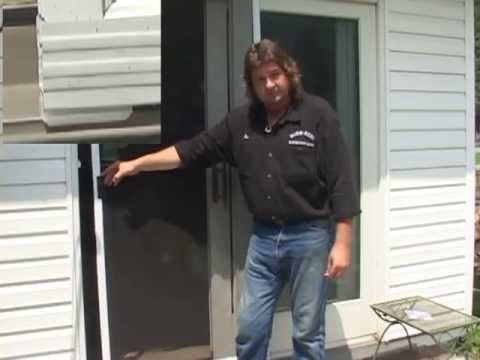 How to fix a sliding screen door without replacing the rollers