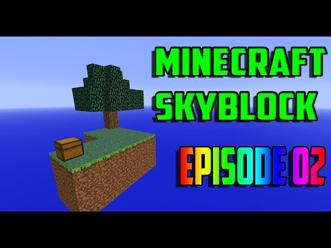 Minecraft Skyblock EP02 | Sand Island and Nether!