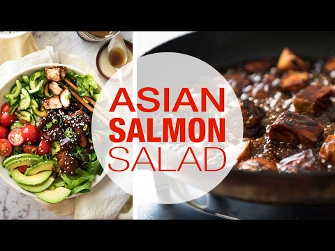 Asian Salmon Salad HD 1080p