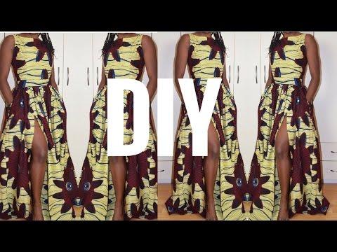 DIY I How To Make Gathered Maxi Dress With Slit I Re-Load