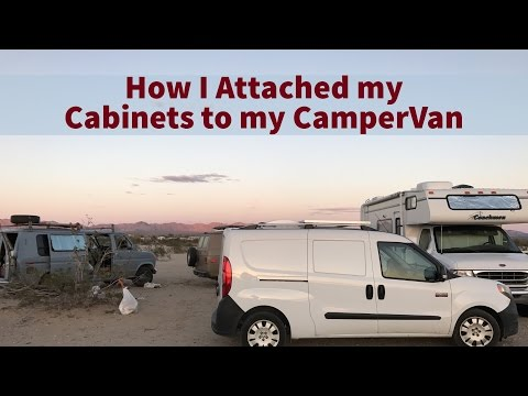 How I Attached my Cabinets to my CamperVan