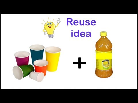 DIY | Reuse of Paper Cup and Plastic Bottle | Best out of waste