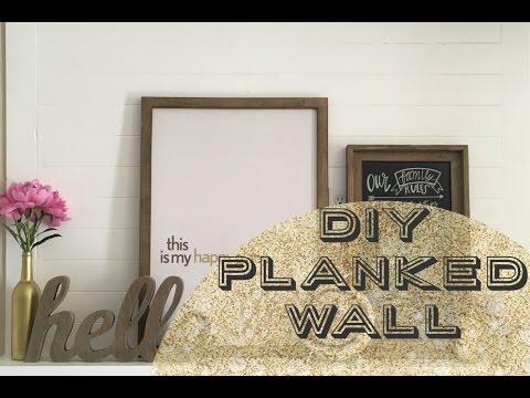 DIY: Planked (Shiplap) Wall