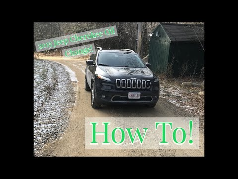 2015 Jeep Cherokee Limited Oil and Filter Change