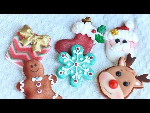 Christmas Dessert DIY Christmas Cupcake Toppers - Fondant & Royal Icing Decorations