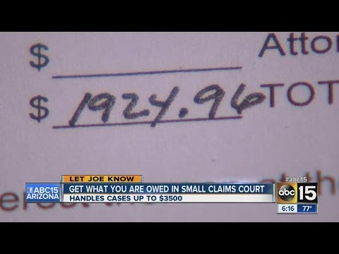 Get what you're owed in small claims court