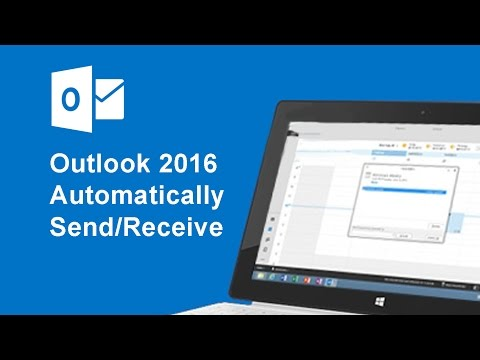 How to set automatically  Send/Receive on Outlook 2016