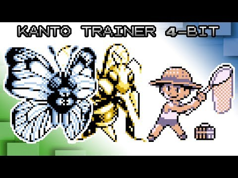 Pokemon Red, Blue and Yellow - Battle! GSC Kanto Trainer Music [4bit]