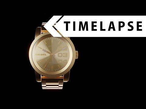 Watch - Modeling, Texturing, Rendering (BLENDER TIMELAPSE)