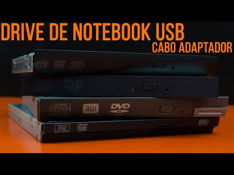 Drive de DVD externo USB com drive de notebook