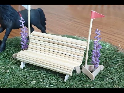 How to make a Schleich Park Bench, Cross Country Jump.