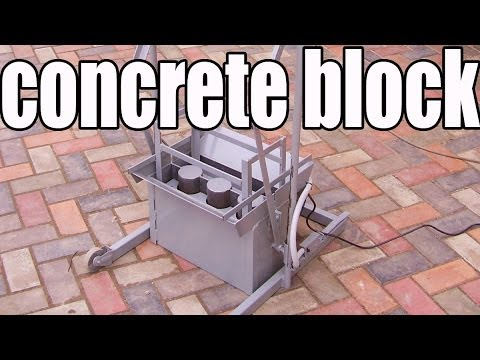Concrete Block Machine BLOX-1S - DIY (Do It Yourself) - Homemade from drawings.