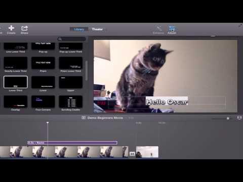 iMovie 10 Tutorial: Beginners and Basics