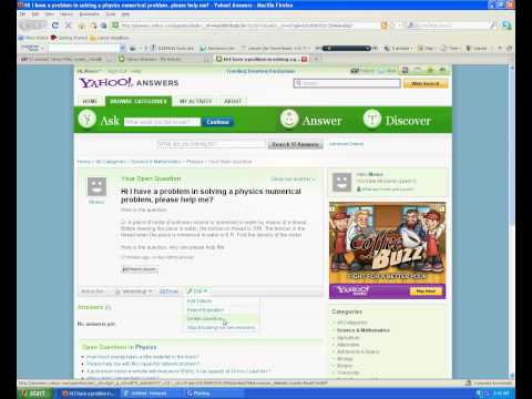 Extend Expiration date of Question at Yahoo! Answers.