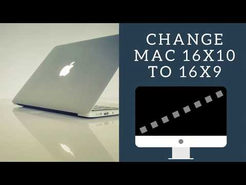 Change mac 16:10 aspect ratio resolution to 16:9 in 2018 [No software needed]