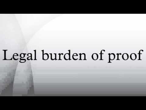Legal burden of proof