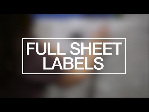 Full Sheet Label Back Slit Options
