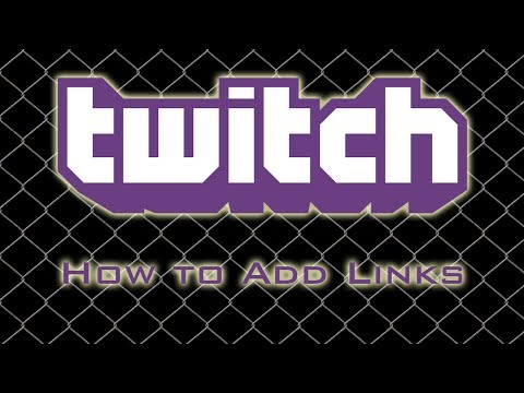 Twitch TV - How to Add Links to Your Info Section