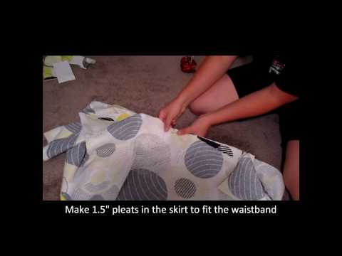 How to make a pleated skirt