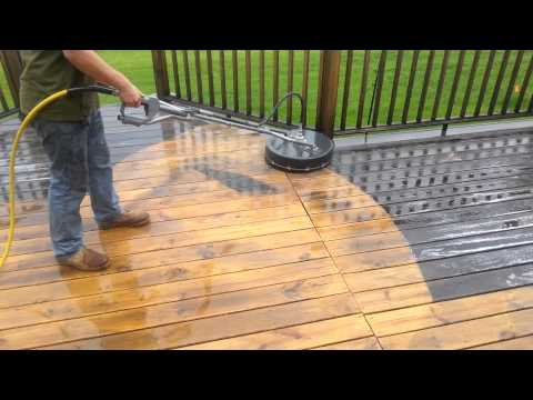 3A Deep Cleaning Dirty Deck with rotary washer