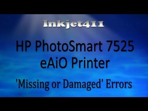 HP Photosmart 7525 Error Troubleshooting