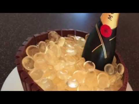 How to make a champagne on ice cake