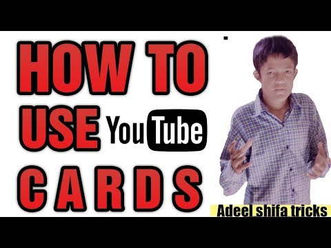 [urdu] How To Use Cards On Yutube And Increase Video Views new feature 2018