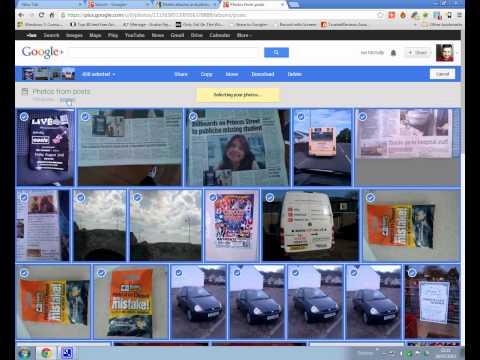 deleting photos on google plus