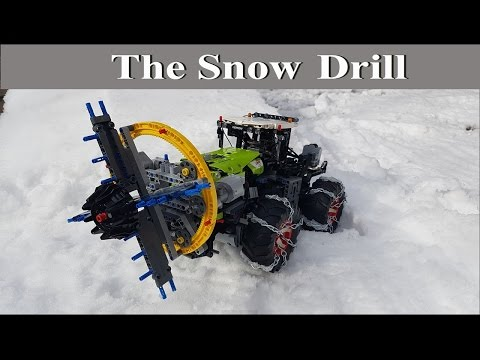 The Snow Drill - Lego Technic 42054 Claas Xerion 5000 Trac VC