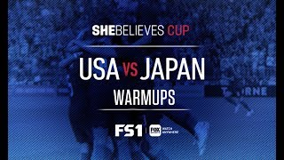 USA vs Japan: Full Pregame Warmups | 2019 SheBelieves Cup | FOX SOCCER